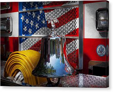 Gift For Canvas Print - Fireman - Red Hot  by Mike Savad