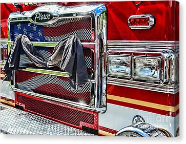 Fireman - Remembering Fallen Heroes Canvas Print by Paul Ward