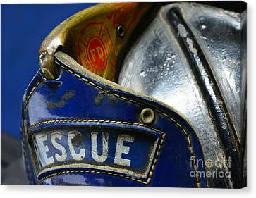 Fireman Rescue Canvas Print by Paul Ward