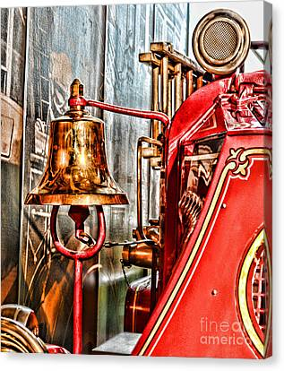 Fireman - The Fire Bell Canvas Print by Paul Ward