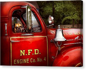 Fireman - This Is My Truck Canvas Print by Mike Savad