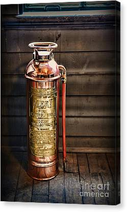 Fireman - Vintage Fire Extinguisher Canvas Print by Paul Ward