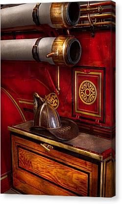 Firemen - An Elegant Job  Canvas Print by Mike Savad