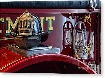 Firemen - Fire Helmet Lieutenant Canvas Print by Paul Ward