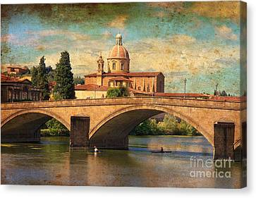 Ponte Alla Carraia Canvas Print