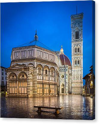 Campanile Canvas Print - Firenze Duomo by Inge Johnsson