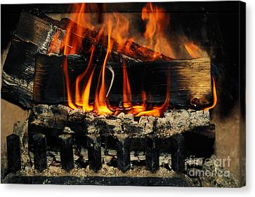 Fireplace Canvas Print by Ron Sanford