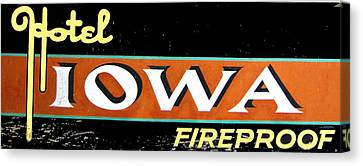 Canvas Print - Fireproof- Hotel Iowa by Jame Hayes