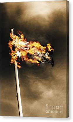 Fires Of Australian Oppression Canvas Print by Jorgo Photography - Wall Art Gallery