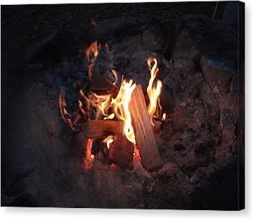 Fireside Seat Canvas Print by Michael Porchik