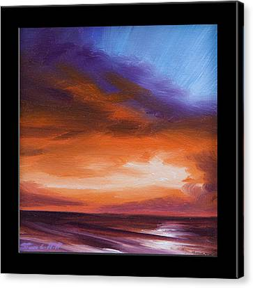 Firesun Sky Canvas Print by James Christopher Hill