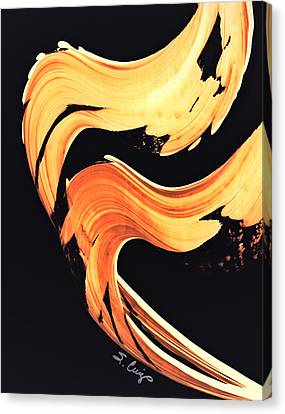 Warm Canvas Print - Firewater 5 - Abstract Art By Sharon Cummings by Sharon Cummings