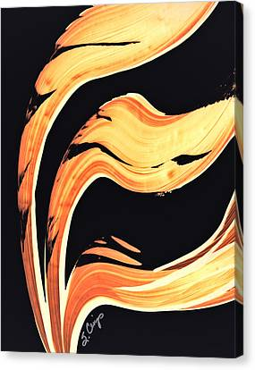Warm Canvas Print - Firewater 6 - Warm Modern Art By Sharon Cummings by Sharon Cummings