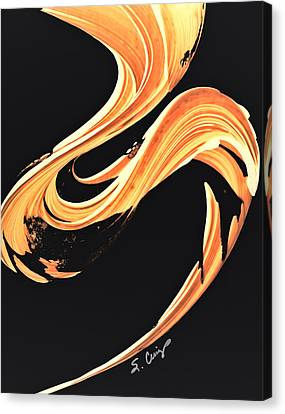 Warm Canvas Print - Firewater 7 - Abstract Art By Sharon Cummings by Sharon Cummings