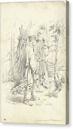 Loon Canvas Print - Firewood Gatherer, Pieter Van Loon by Quint Lox