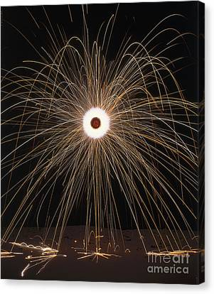 Pyrotechnics Canvas Print - Firework Going Off by Dorling Kindersley