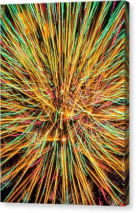 Firework Lines Canvas Print by Bill Tiepelman