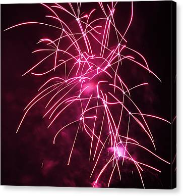 Rockets Red Glare Fireworks Canvas Print by Howard Tenke