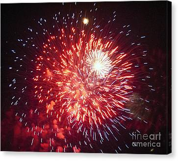 Fireworks 1 Canvas Print by Leslie Cruz