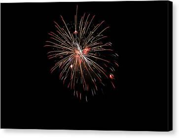 Fireworks 1 Canvas Print by Marilyn Hunt