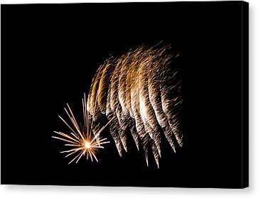 Canvas Print featuring the photograph Fireworks 1 by Susan  McMenamin