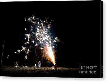 Independance Canvas Print - Fireworks 10 by Cassie Marie Photography