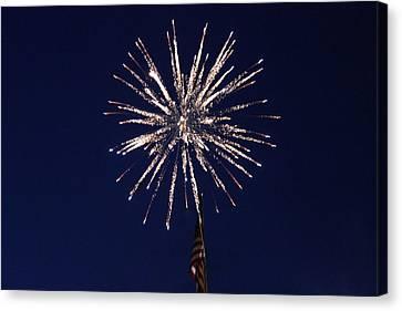 Fireworks 2 Canvas Print by Christine Hafeman