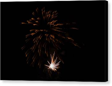Canvas Print featuring the photograph Fireworks 2 by Susan  McMenamin