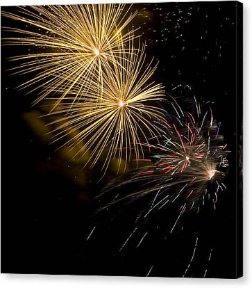 Fireworks 20 Canvas Print by Sandy Swanson