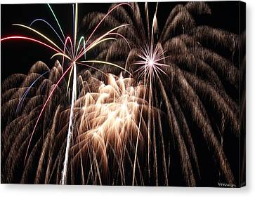 Fireworks 3 Canvas Print by Andrew Nourse