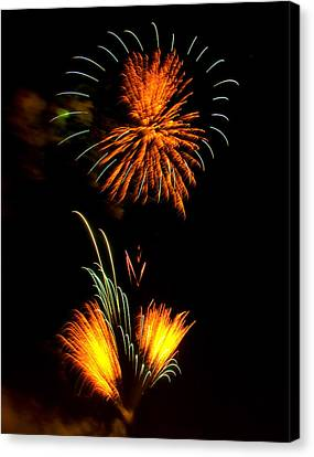 Fireworks 3 Canvas Print by Chris Flees