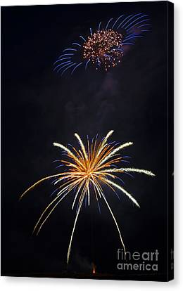 Fireworks 3 The Spaceship Canvas Print by Dianne Phelps