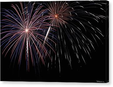 Fireworks 4 Canvas Print by Andrew Nourse
