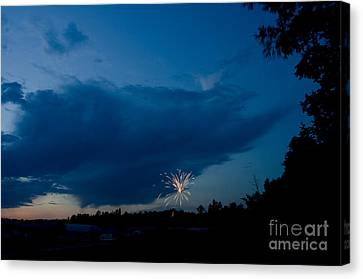 Independance Canvas Print - Fireworks 4 by Cassie Marie Photography
