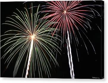 Fireworks 5 Canvas Print by Andrew Nourse