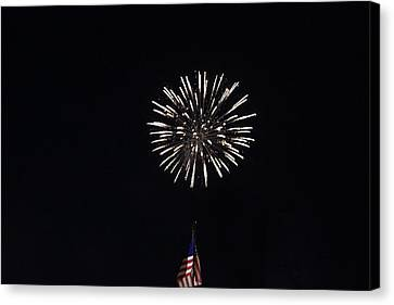 Fireworks 5 Canvas Print by Christine Hafeman