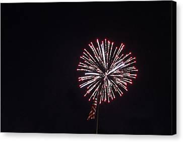 Fireworks 6 Canvas Print by Christine Hafeman