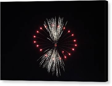 Fireworks 7 Canvas Print by Christine Hafeman