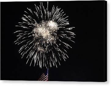 Fireworks 8 Canvas Print by Christine Hafeman