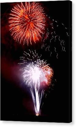 Pyrotechnics Canvas Print - Fireworks by Art Block Collections