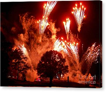 Fireworks At Epcot 1 Canvas Print