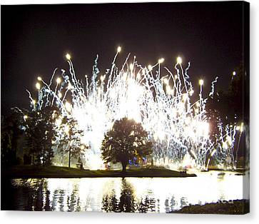Fireworks At Epcot 2 Canvas Print