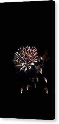 Fireworks At Night Canvas Print