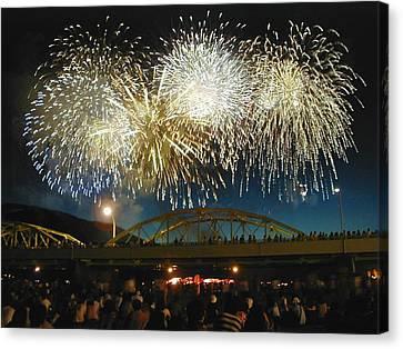 4th July Canvas Print - Fireworks by Beau Brady