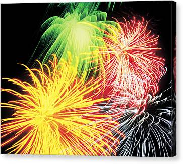 Pyrotechnic Canvas Print - Fireworks by Benelux Press B.V.