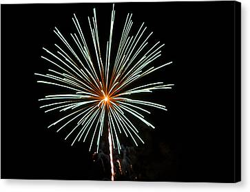 Fireworks Bursts Colors And Shapes 2 Canvas Print by SC Heffner