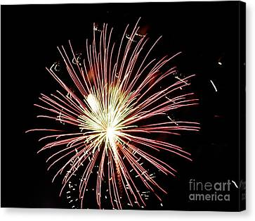 Canvas Print featuring the digital art Fireworks By Aclay by Angelia Hodges Clay