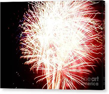 Canvas Print featuring the digital art Fireworks By Angela by Angelia Hodges Clay