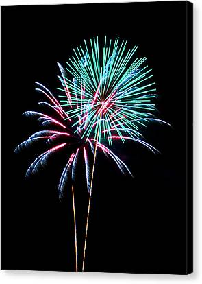 Fireworks Canvas Print by Darrin Doss