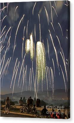 Pyrotechnic Canvas Print - Fireworks by David R Frazier Photolibrary Inc